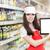 笑みを浮かべて · スーパーマーケット · 従業員 · pc · タブレット - ストックフォト © nicoletaionescu