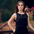 elegáns · nő · visel · fekete · ruha · áll · belső · udvar - stock fotó © NicoletaIonescu