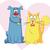 cat and dog cartoon vector mascots stock photo © nicoletaionescu