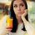 aburrido · mujer · colorido · cóctel · beber - foto stock © NicoletaIonescu