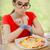 смешные · голодный · женщину · рук · рулетка · красивая · девушка - Сток-фото © NicoletaIonescu