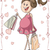 pregnant woman with shopping bags vector cartoon stock photo © nicoletaionescu