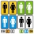male and female restrooms vector sign stock photo © nikdoorg