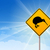 kiwi · pássaro · amarelo · assinar · azul · ilustração - foto stock © nikdoorg