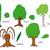 ingesteld · loof · bomen · geïsoleerd · illustratie · vector - stockfoto © nikdoorg