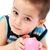 улыбаясь · мальчика · розовый · свинья · деньги - Сток-фото © nikkos