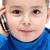 ребенка · сотового · телефона · улыбка · телефон · синий · мобильных - Сток-фото © nikkos