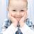 ребенка · улыбка · красивой · ребенка · лице · таблице - Сток-фото © nikkos