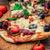 pizza · kerstomaatjes · mozzarella · heerlijk · plakje · houten · tafel - stockfoto © nikolaydonetsk