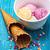 sorvete · decorado · doce · pó · hóstia - foto stock © nikolaydonetsk