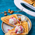 baked toast smeared ice cream in raspberry jam stock photo © nikolaydonetsk