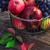 свежие · красный · яблоки · плетеный · корзины · деревянный · стол - Сток-фото © nikolaydonetsk