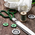 ミシン · ボタン · 花束 · 白 · チューリップ · 古い - ストックフォト © nikolaydonetsk