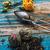 bladeren · thee · turkoois · houten · water · glas - stockfoto © nikolaydonetsk