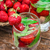 glass of refreshing strawberry cocktail stock photo © nikolaydonetsk