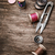 tesoura · fio · velho · projeto - foto stock © nikolaydonetsk