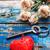 üdvözlőlap · ünnep · szerelmespár · gyertya · szív · szimbólum - stock fotó © nikolaydonetsk