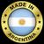 Argentinië · vlag · glanzend · knop · vector · glas - stockfoto © nirodesign