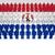 ludzi · banderą · Paragwaj · odizolowany · biały · tłum - zdjęcia stock © nirodesign