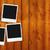 blank photo frame on wood stock photo © nirodesign