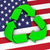 recycling symbol on usa flag stock photo © nirodesign