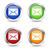 informações · vetor · azul · ícone · web · botão - foto stock © nirodesign