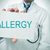 doctor showing a signboard with the word allergy stock photo © nito