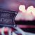 schoolbord · tekst · gelukkige · verjaardag · cake · retro · Rood - stockfoto © nito