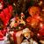 nostálgico · árvore · de · natal · flocos · de · neve · cartão · temporadas - foto stock © nito
