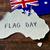 オーストラリア人 · フラグ · 3dのレンダリング · 反射 - ストックフォト © nito