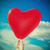 red heart shaped balloon stock photo © nito