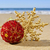 christmas ball and star on the beach stock photo © nito