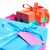 gift boxes tied with satin ribbons of different colors stock photo © nito
