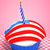 american cupcake with candle stock photo © nito
