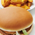 Huhn · burger · frites · appetitlich · Set · Tabelle - stock foto © nito