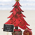 ahşap · noel · ağacı · plaj · kumu · dekore · edilmiş · kırmızı · plaj - stok fotoğraf © nito