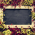 blank chalkboard surrounded by flowers stock photo © nito