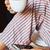 молодым · человеком · завтрак · кровать · мобильного · телефона · телефон · домой - Сток-фото © nito