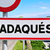 road sign at the entrance of cadaques in spain stock photo © nito
