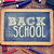 the text back to school written on a chalkboard filtered stock photo © nito