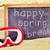 boldog · tavaszi · szünet · férfi · kéz · tart · szöveg - stock fotó © nito