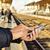 smartphone · treinstation · asian · zakenman · wachten - stockfoto © nito