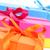 ギフトボックス · 異なる · 色 · 花 · 背景 · 赤 - ストックフォト © nito