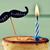 doğum · günü · mum · cheesecake · mavi · gıda · parti - stok fotoğraf © nito
