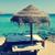 sunlounger and umbrella in ibiza spain stock photo © nito