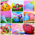 húsvét · kollázs · öt · képek · női · kezek - stock fotó © nito
