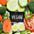vegetables and text vegan in a chalkboard stock photo © nito