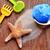 plaj · oyuncaklar · kum · renkli · sınır · yalıtılmış - stok fotoğraf © nito
