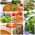 sopa · de · tomate · colagem · verão · tomates · cereja - foto stock © nito