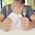 adam · diyet · bekleme · gıda · restoran · içmek - stok fotoğraf © nito